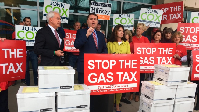 Conservatives Turn in 940,000 Signatures for Anti-Gas Tax Initiative