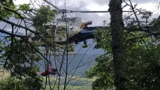 Motorist Saved After Car Falls 450 Feet Off North Bay Cliff