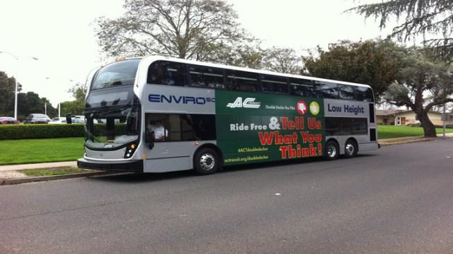 AC Transit Launches Double-Decker Bus Pilot Program