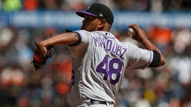 Marquez Throws 1-Hitter, Rockies Top SF 4-0, End 8-Game Skid