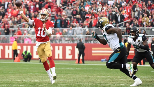 Garoppolo, 49ers Light Up Stingy Jags Like a Christmas Tree, Hold on For Win