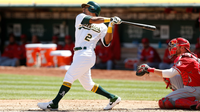 Davis Homers Again to Lead A's Past Angels 2-1
