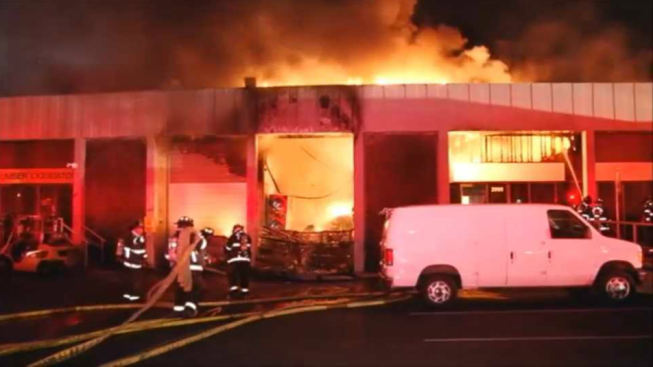 Fire Ignites at Commercial Building in San Leandro