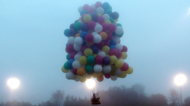N.C. Man Attempts Trans-Atlantic Crossing With 300 Balloons