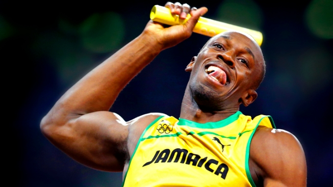 Bolt Wins 3rd Gold, World Relay Record