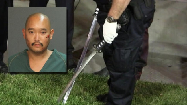Taser Used on Samurai Sword-Wielding Man