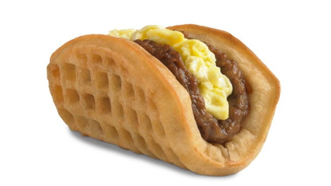 "Taco Bell Takes Aim at McDonald's Breakfast With ""Waffle Taco,"" ""A.M. Crunchwrap"""