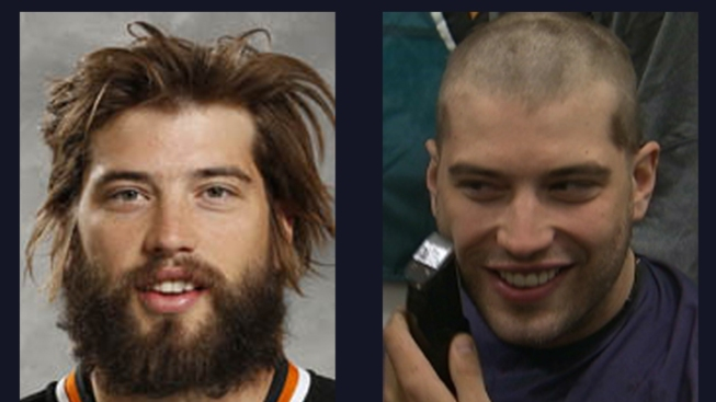Brent Burns Loses Locks, Beard for Charity