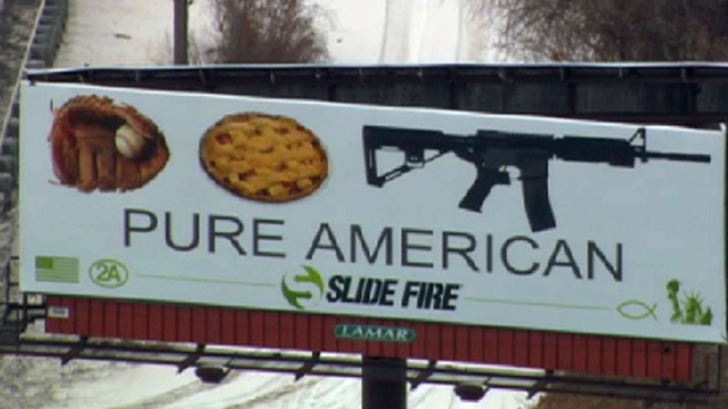 """""""Pure American"""" Ad Lumps Assault Rifle With Apple Pie, Baseball Glove"""