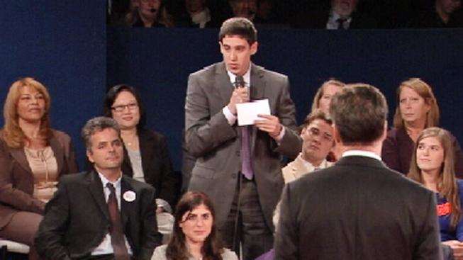Jeremy Epstein, First Questioner in Debate, Says He's No Longer Undecided