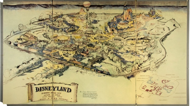 [NATL-LA] 'Rare' Disneyland Hand-Drawn Map Sold at Auction