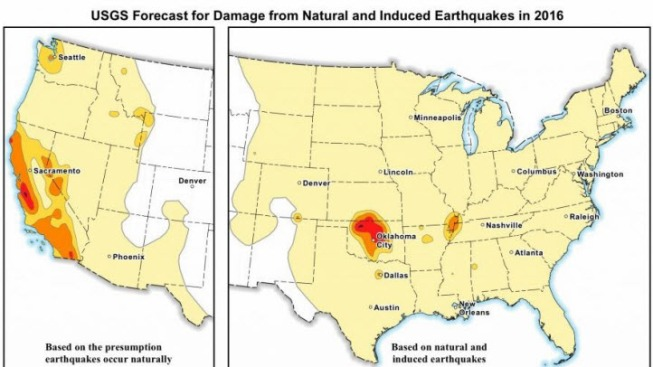 induced earthquakes raise chances of damaging tremors usgs