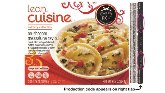 Nestlé Recalling Lean Cuisine Mushroom Mezzaluna Ravioli