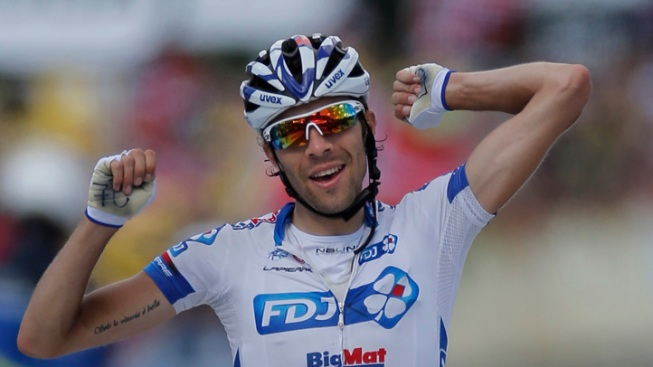 Pinot Wins 8th Stage of Tour de France; Wiggins Keeps Lead