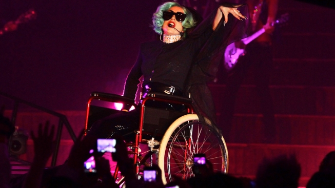 Lady Gaga Egged After Wheelchair Stunt