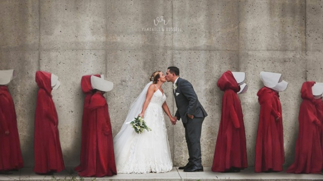 A 'Handmaid's Tale'-Themed Wedding Photo Sparked Outrage Online