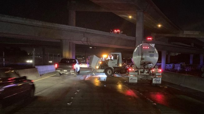 Diesel Leaking Big-Rig Closes Lanes on I-238 in Hayward