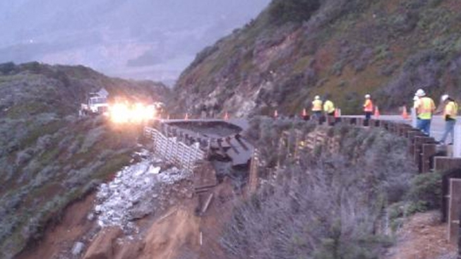 Huge Section of Highway 1 Crumbles