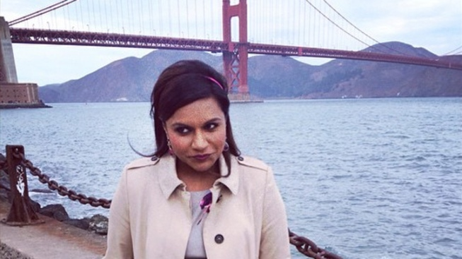 "Mindy Kaling Shoots ""Mindy Project"" in San Francisco"