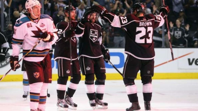 L.A. Kings Advance, Beat Sharks 2-1 in Game 7