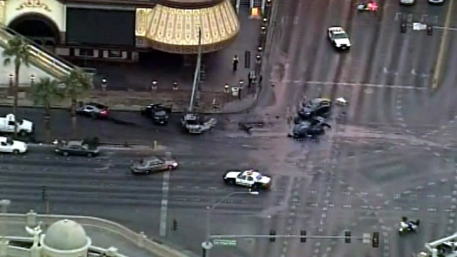 Range Rover Found, Suspect Sought in Vegas Strip Shooting