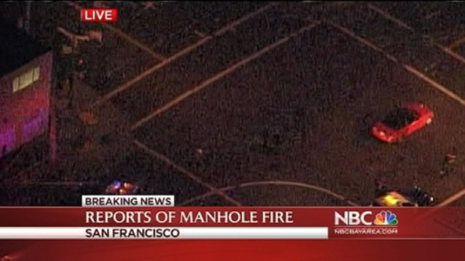Manhole Cover Explodes in San Francisco