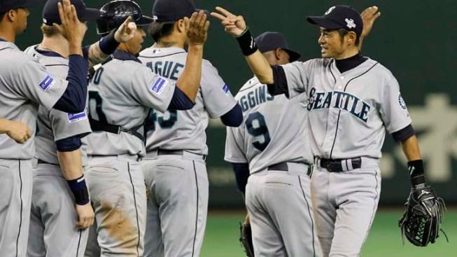 Mariners Beat A's in Baseball Season Opener in Tokyo