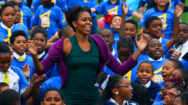 San Francisco Students Help Michelle Obama Break World Record