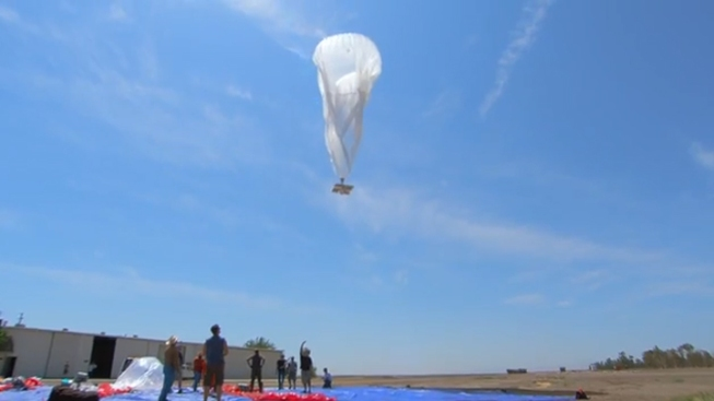 Google Launches Giant Balloons Into Space