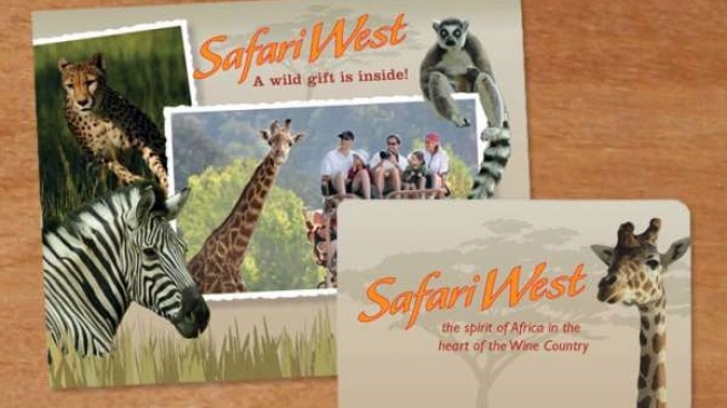Love for Safari West: Holiday Gift Cards