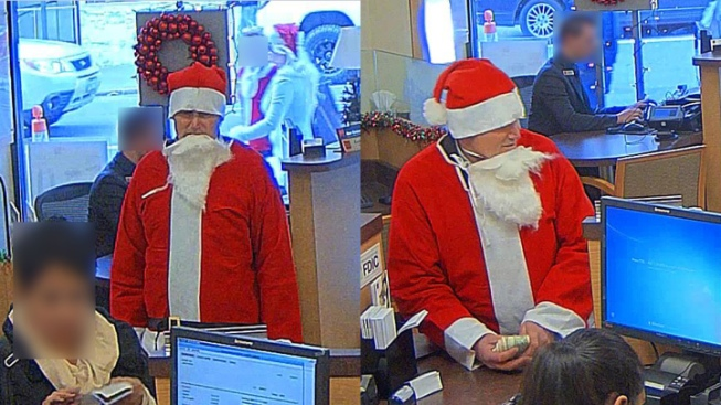Man Dressed as Santa Claus Robs San Francisco Bank