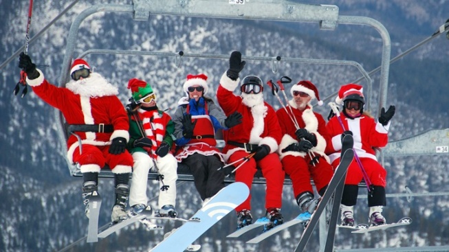 Ho, Ho, Snow: Santa Ski Day at Mt. Rose