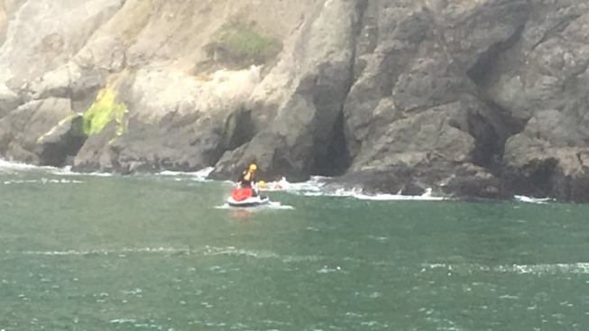 Coast Guard, San Francisco Firefighters Rescue Distressed Swimmer From China Beach