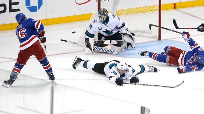 Sharks Lose Lead in Third, Game in OT Against Rangers