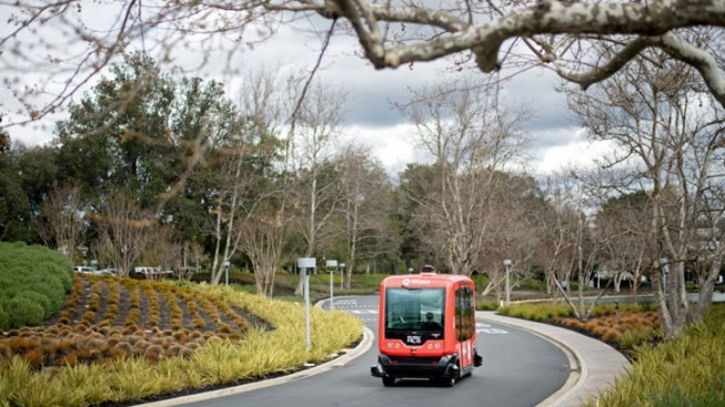Driverless Shuttles Tested at San Ramon Business Park