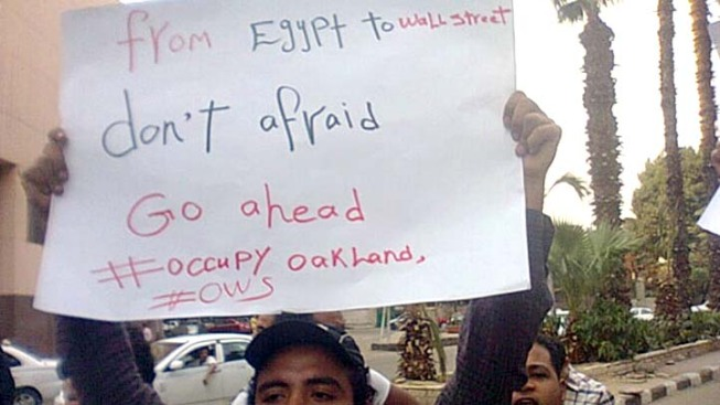 Egyptians March for Occupy Oakland
