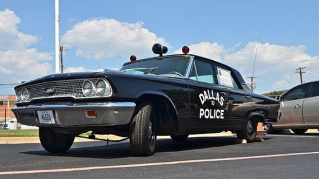 Vintage Police Car Pays Tribute to Slain Dallas Officer J.D. Tippit