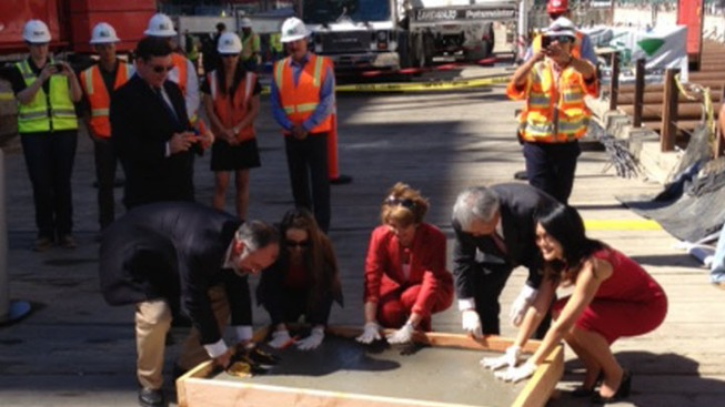 San Francisco: Pelosi, Mayor Lee Pour First Concrete Into Foundation of Transbay Transit Center