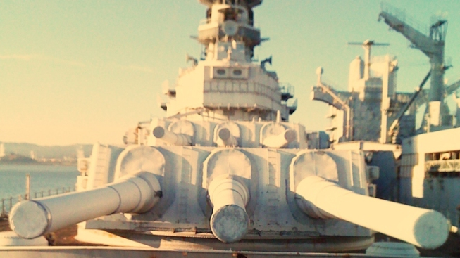 USS Iowa On the Move