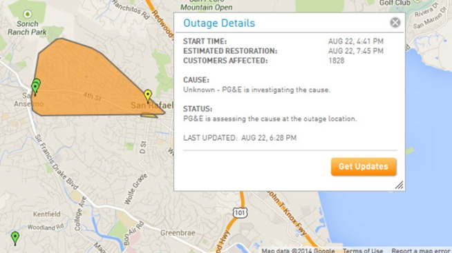 1 800 Affected By Power Outage In San Rafael Nbc Bay Area