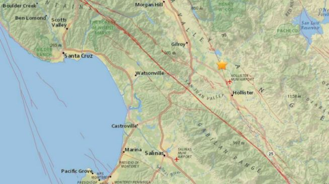 Back-to-Back Quakes Strike Near Gilroy, Hollister: USGS