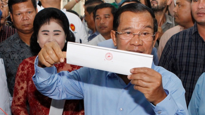 Cambodia's Hun Sen Coasts to Win After Opposition Silenced