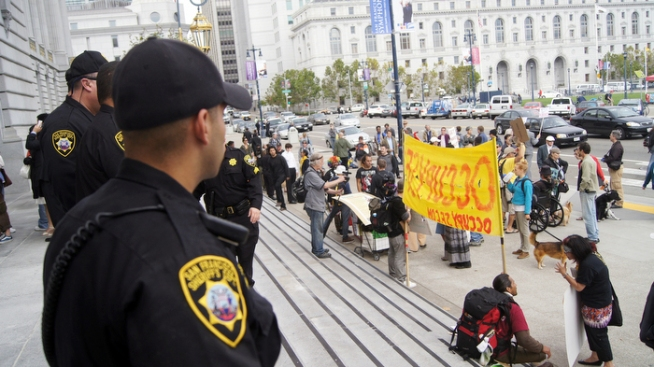 Overnight Stabbing at Occupy SF