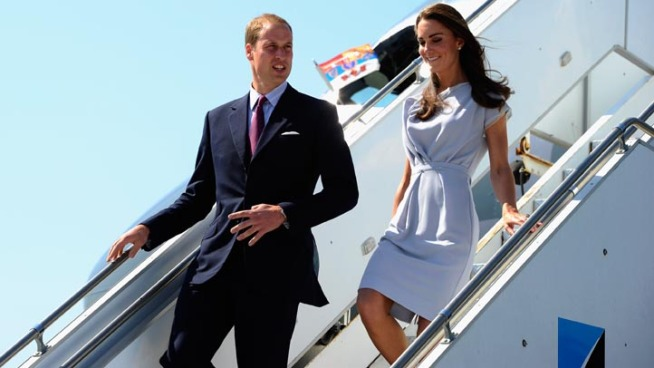 Prince William and wife, Catherine, arrive in Los Angeles.