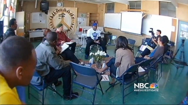 Restorative justice, not punishment, helps students at Ralph Bunche High School in Oakland. Stephanie Chuang reports.