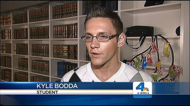 Students at a high school in San Bernardino County are being told they must wear gender-specific attire to prom and for yearbook photos, prompting the ACLU to demand district officials step in to end discrimination against students by teachers and administrators at the school. Jane Yamamoto reports for the NBC4 News at 11 p.m. on March 18, 2013.