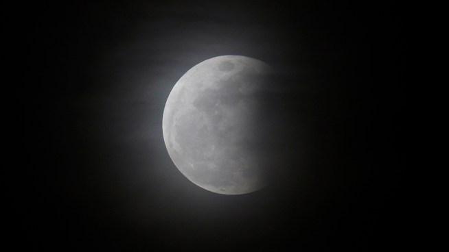Partial Lunar Eclipse Rises