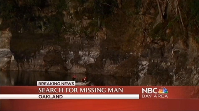 A water rescue is now a recovery in Oakland for a man who went to search for his cat and may have fallen into a lake inside a quarry. Fire crews arrived on scene around 7:15 p.m. and requested the dive team to search the waterway located behind 4400 Montgomery street. The victim may have fallen 75 to 100 feet down the steep cliff and into the water below. Firefighters are telling NBC Bay Area that they believe the man is dead. Cheryl Hurd reports.
