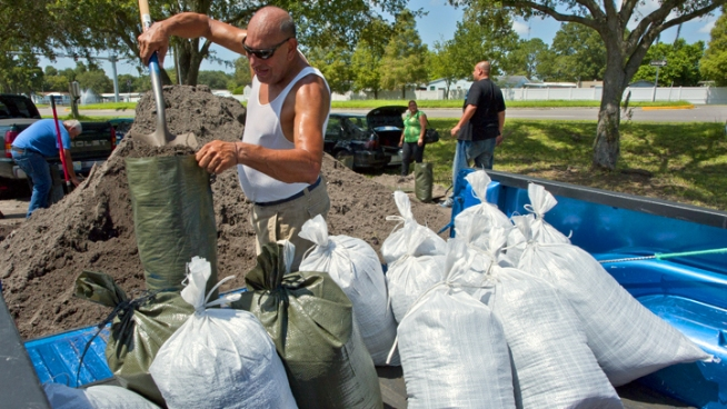 Sandbags are being given out for free in San Anselmo on Tuesday. That's because there is a big storm ahead. Monte Francis reports.
