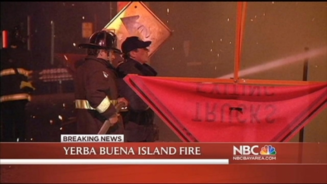 It was an eerie sight for drivers crossing the Bay Bridge. The fire broke out just before 8 p.m. on a steep ridge. As the flames grew, drivers were warned to expect delays, or avoid the area all together. NBC Bay Area Kimberly Tere reports.